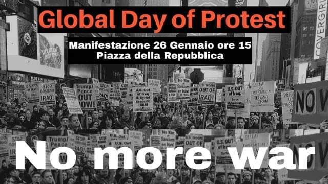 Manifestazione contro la guerra 26/1